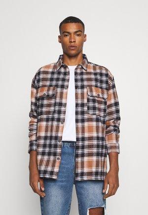 EVIAN BRUSHED CHECK UNISEX - Summer jacket - brown