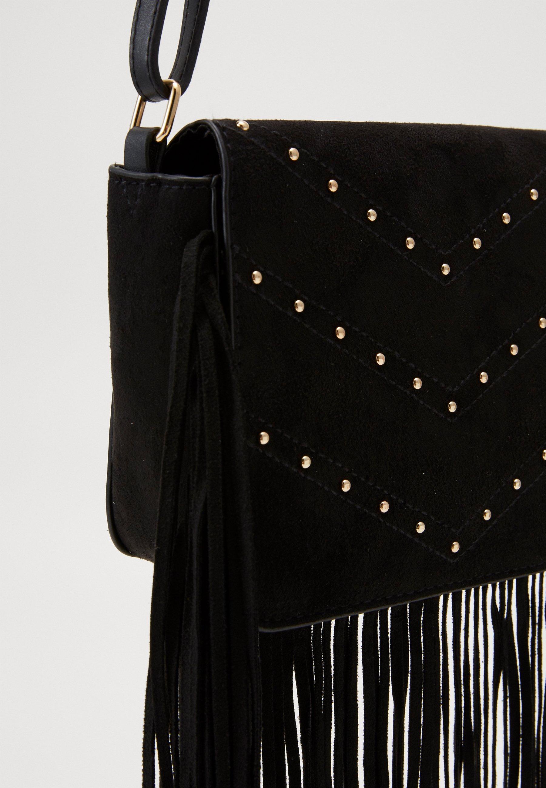 New Look FABLE FRINGED STUD X BODY Skulderveske black