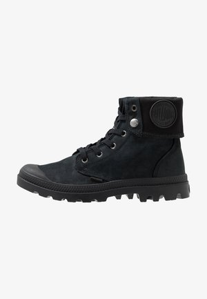 BAGGY NUBUCK - Lace-up ankle boots - black