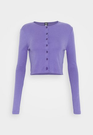 BUTTON DOWN CARDIGAN - Cardigan - violet