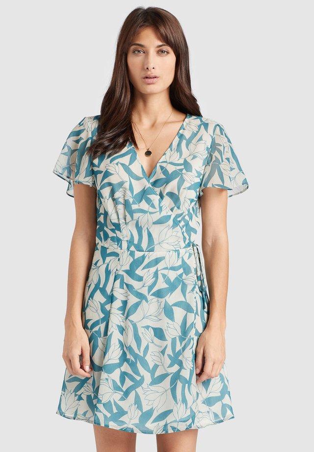VARVARA - Robe d'été - blau gemustert