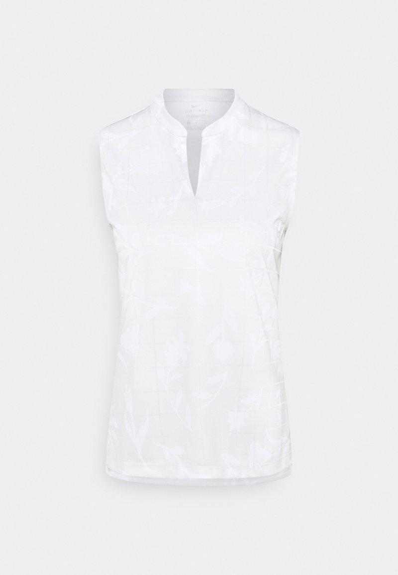 Nike Golf - W NK BRTH SL  - Sports shirt - photon dust/white
