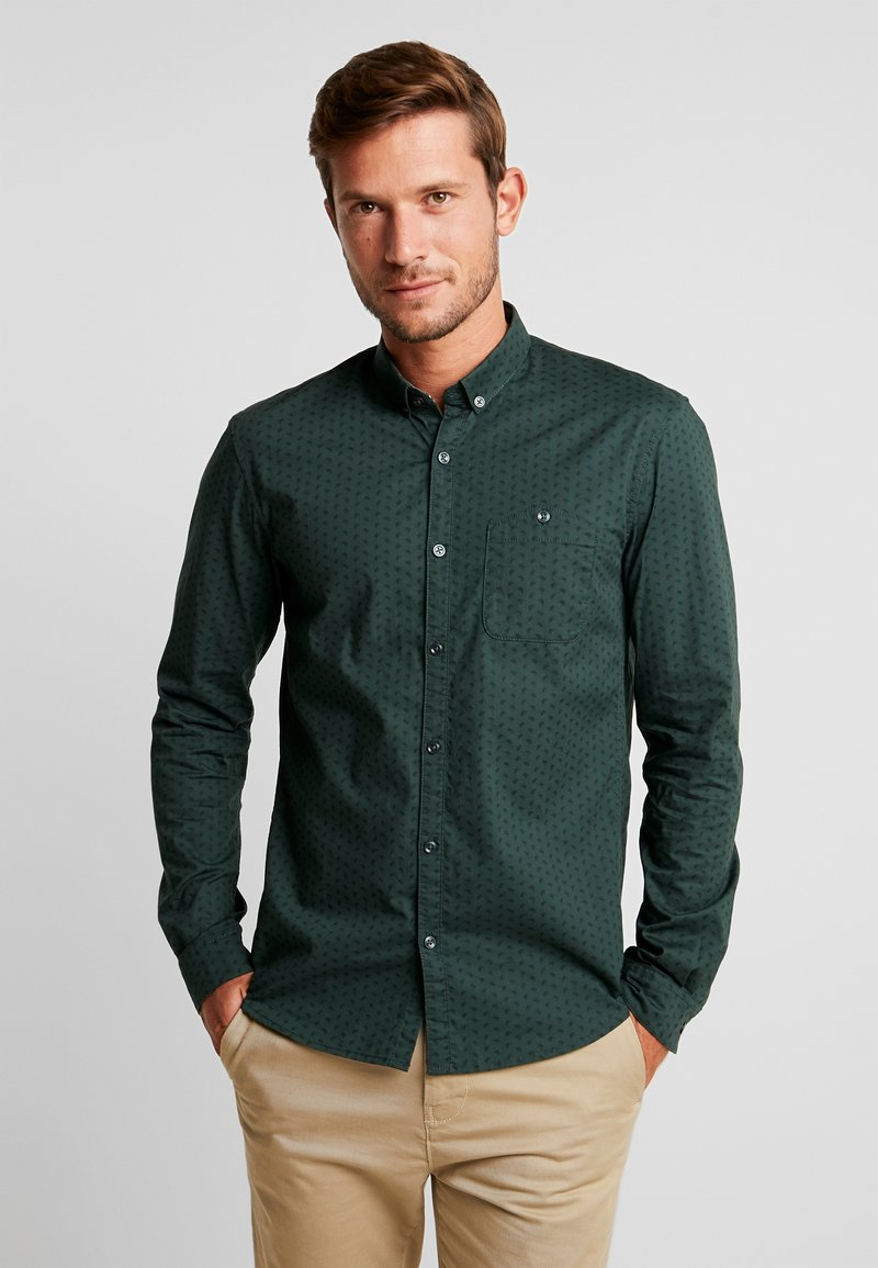 TOM TAILOR DENIM - ALLOVER PRINTED STRETCH  - Shirt - green
