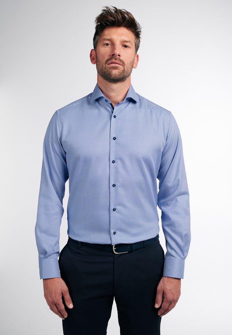 Eterna - LANGARM MODERN FIT - Shirt - blau