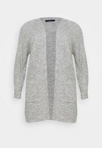 SLFLIA LONG CARDIGAN - Cardigan - light grey melange