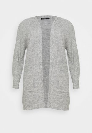 SLFLIA LONG CARDIGAN - Cardigan - light grey melange