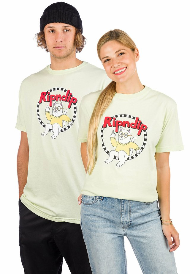 Print T-shirt - light mint