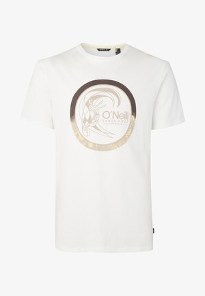 CIRCLE SURFER - T-shirt print - white