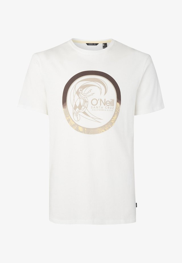 CIRCLE SURFER - Print T-shirt - white