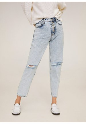 MOM - Jeans Straight Leg - bleach-blau