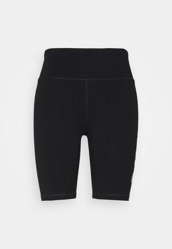 TRACK LOGO BIKE SHORT - Leggings - black/white