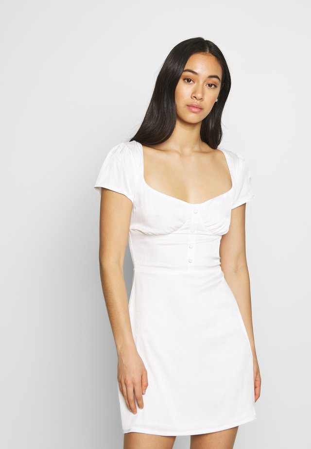 AVALON DRESS - Shift dress - white
