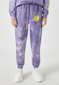 PULL&BEAR - Tracksuit bottoms - mauve - 0