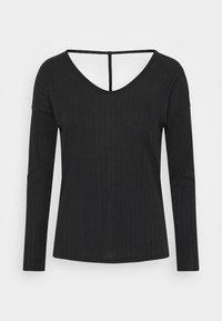 POINTELLE - Sports shirt - black/dark smoke grey