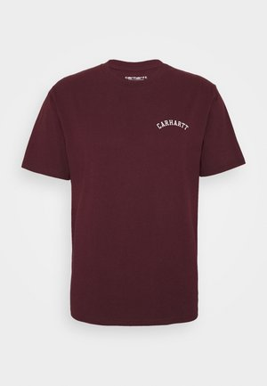 UNIVERSITY SCRIPT  - T-shirt basic - bordeaux/white