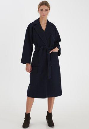 Płaszcz wełniany /Płaszcz klasyczny - dark navy