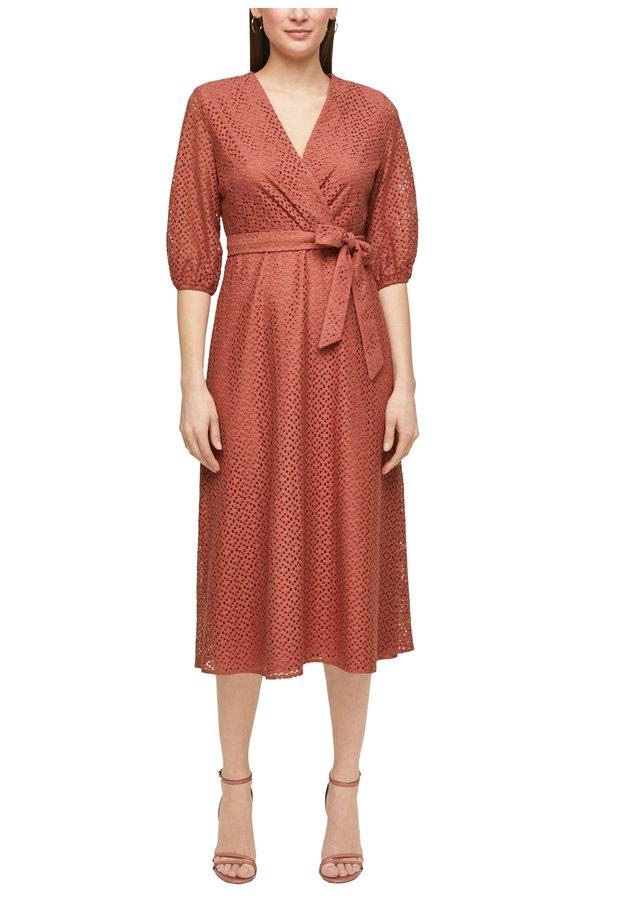 Korte jurk - dusty apricot