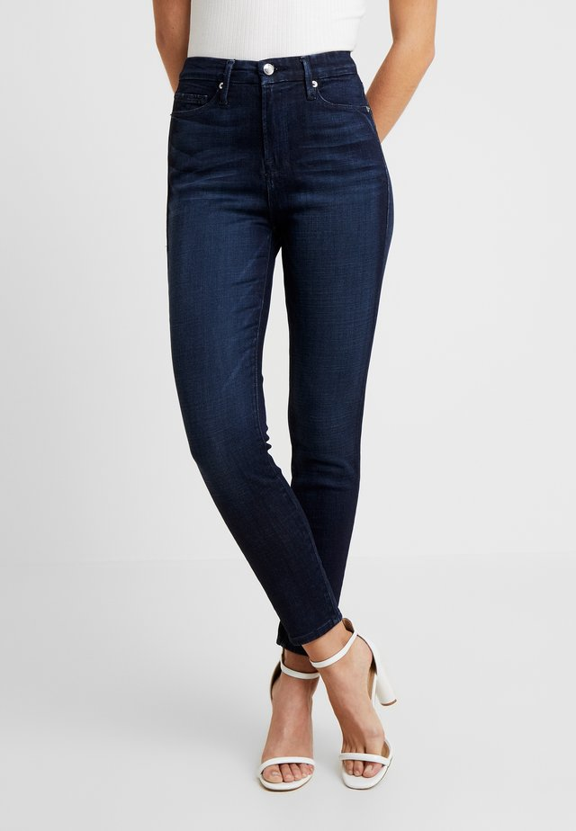 WAIST CROP - Jeansy Skinny Fit - blue
