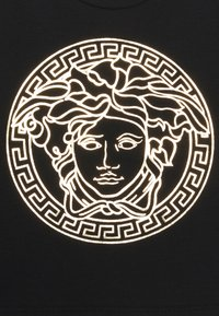 Versace - SHORT SLEEVES MEDUSA UNISEX - Print T-shirt - black/gold - 2