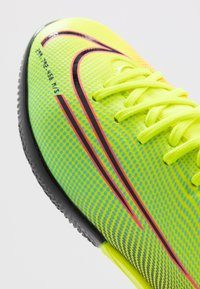 Nike Performance - MERCURIAL 7 ACADEMY MDS IC UNISEX - Indoor football boots - lemon/black/aurora green - 2