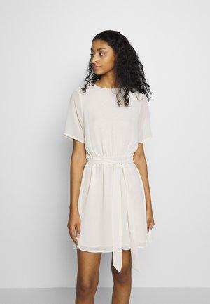BELTED DRESS - Vestido informal - off white