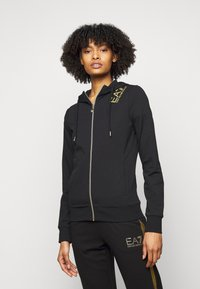 EA7 Emporio Armani - Zip-up hoodie - black - 0