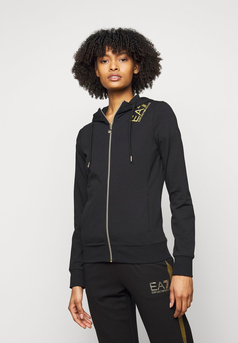 EA7 Emporio Armani - Zip-up hoodie - black