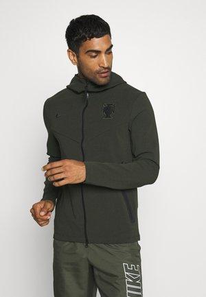 PORTUGAL HOODIE - Zip-up hoodie - sequoia/black