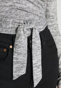 Missguided - BRUSHED WRAP - Jumper - grey - 5