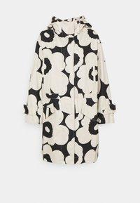 Marimekko - ROHKAISTA UNIKKO COAT - Classic coat - black/off-white - 0