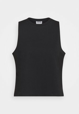 NMHAILEY  CROP TANK  - Top - black