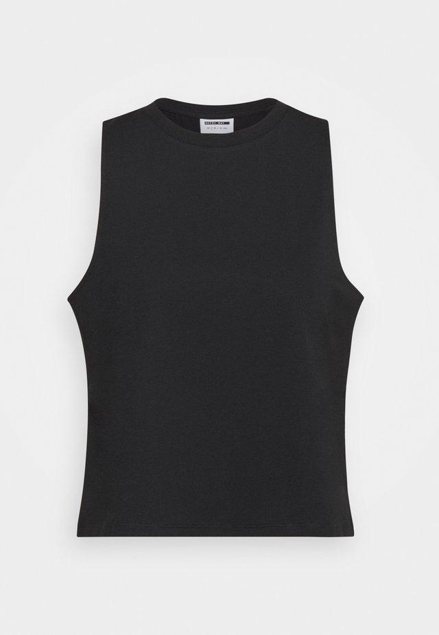 NMHAILEY  CROP TANK  - Top - black