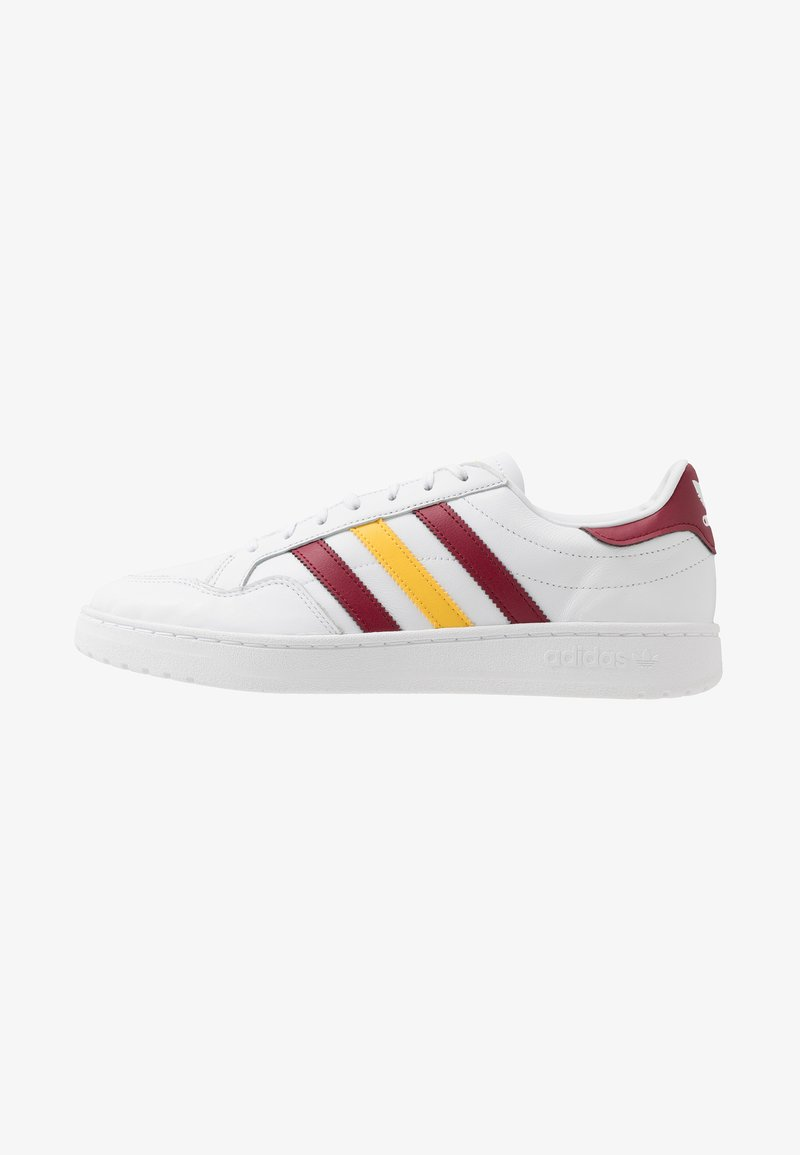 adidas Originals - TEAM COURT - Baskets basses - footwear white/collegiate burgundy/glow