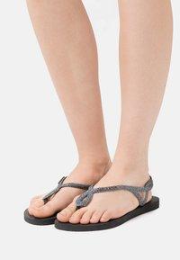 Havaianas - LUNA PREMIUM - Pool shoes - black/dark grey - 1