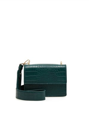 PCRIKKY CROSS BODY - Across body bag - dark green/gold-coloured