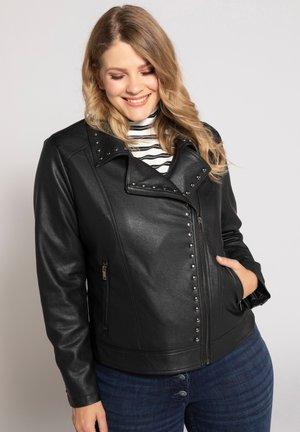 Faux leather jacket - zwart