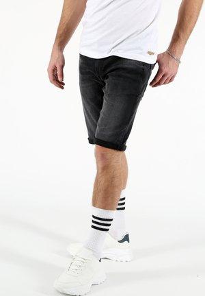 THOMAS - Denim shorts - schwarz
