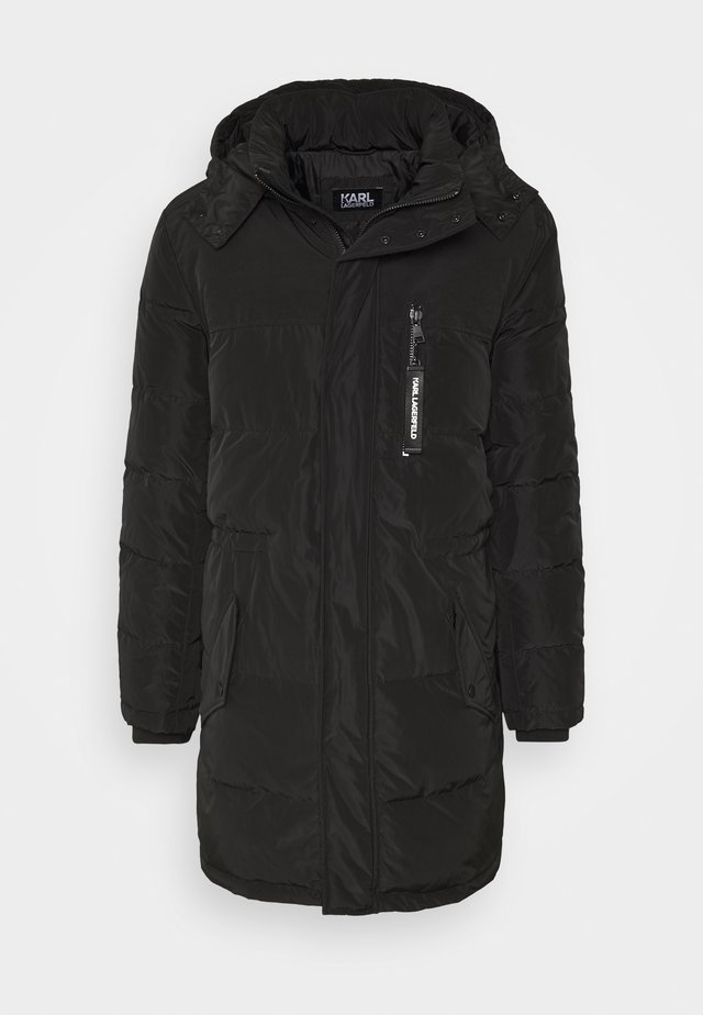 HOODED PARKA - Daunenmantel - black