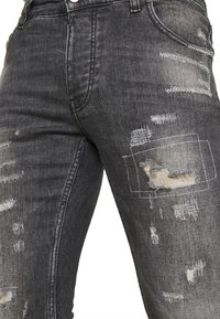 Tigha - BILLY THE KID REPAIRED - Jeans Skinny Fit - vintage black - 3