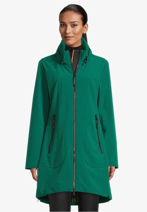 MIT STEHKRAGEN - Short coat - tannengrün