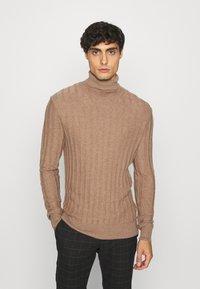 Pier One - Stickad tröja - mottled beige - 0
