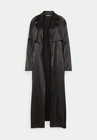 Missguided - MAXI JACKET - Trenchcoat - black - 0