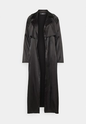 MAXI JACKET - Trenchcoat - black
