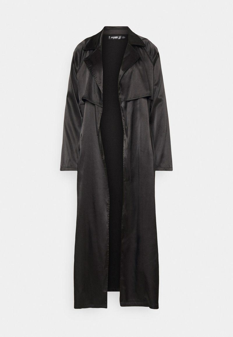 Missguided - MAXI JACKET - Trenchcoat - black
