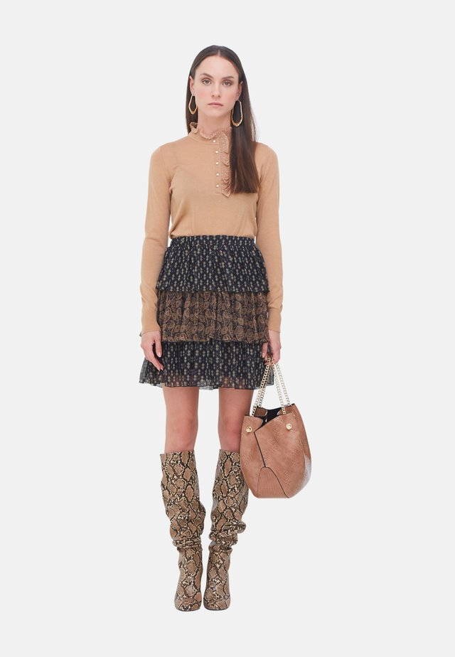 A-line skirt - marrone