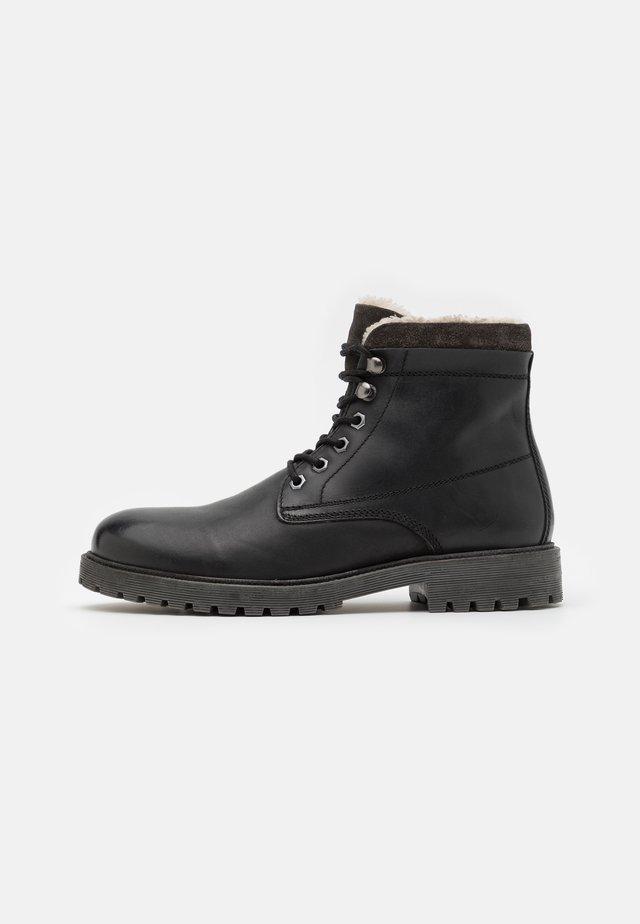 BIADAREN WARM - Šněrovací kotníkové boty - black