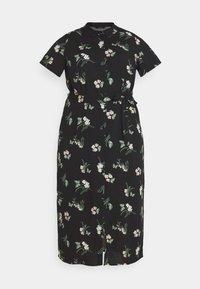 Vero Moda Curve - VMSIMPLY EASY LONG - Košilové šaty - black - 3