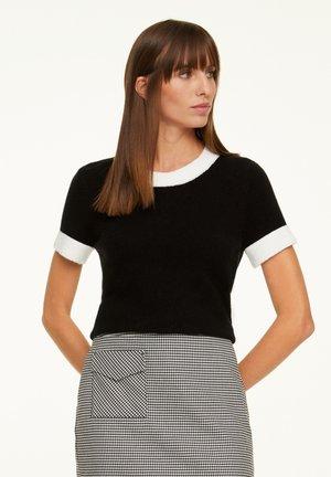 Print T-shirt - black colorblock