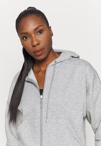 adidas Performance - Zip-up sweatshirt - mottled grey/white - 3