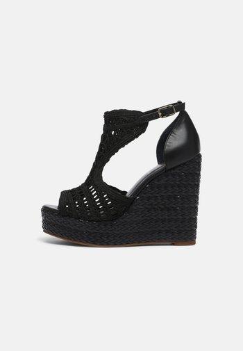 NEUVARI - Platform sandals - noir
